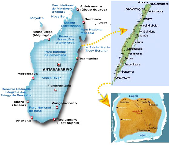 Ile Ste Marie Madagascar Carte.Plan